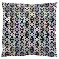 Peace Pattern Large Cushion Case (two Sides)