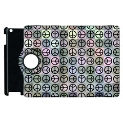 Peace Pattern Apple Ipad 2 Flip 360 Case by BangZart