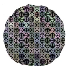 Peace Pattern Large 18  Premium Flano Round Cushions by BangZart