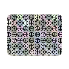 Peace Pattern Double Sided Flano Blanket (mini)  by BangZart