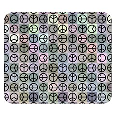 Peace Pattern Double Sided Flano Blanket (small)