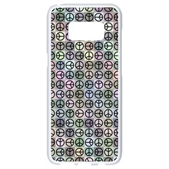 Peace Pattern Samsung Galaxy S8 White Seamless Case