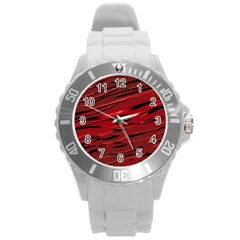 Alien Sine Pattern Round Plastic Sport Watch (l)
