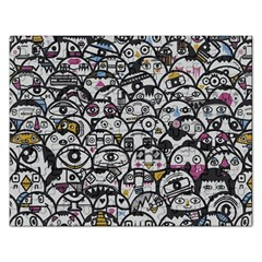 Alien Crowd Pattern Rectangular Jigsaw Puzzl by BangZart