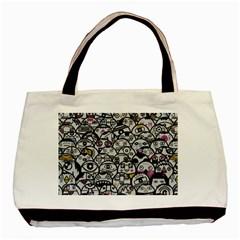 Alien Crowd Pattern Basic Tote Bag (Two Sides) by BangZart