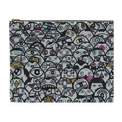 Alien Crowd Pattern Cosmetic Bag (xl)