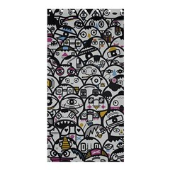 Alien Crowd Pattern Shower Curtain 36  X 72  (stall)