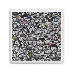 Alien Crowd Pattern Memory Card Reader (square)  by BangZart