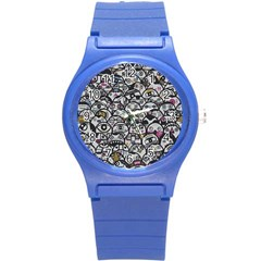 Alien Crowd Pattern Round Plastic Sport Watch (s) by BangZart