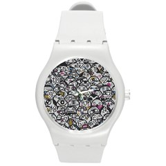 Alien Crowd Pattern Round Plastic Sport Watch (m) by BangZart
