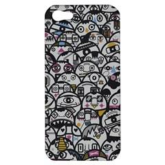 Alien Crowd Pattern Apple Iphone 5 Hardshell Case