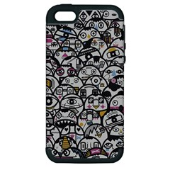 Alien Crowd Pattern Apple Iphone 5 Hardshell Case (pc+silicone) by BangZart