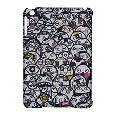 Alien Crowd Pattern Apple Ipad Mini Hardshell Case (compatible With Smart Cover) by BangZart