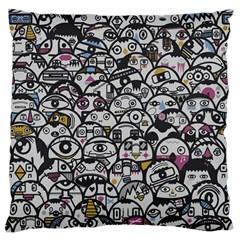 Alien Crowd Pattern Large Flano Cushion Case (one Side)