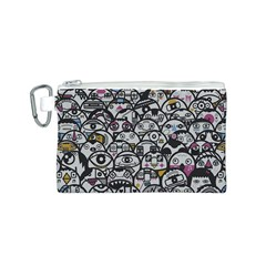 Alien Crowd Pattern Canvas Cosmetic Bag (s) by BangZart