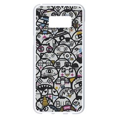 Alien Crowd Pattern Samsung Galaxy S8 Plus White Seamless Case by BangZart