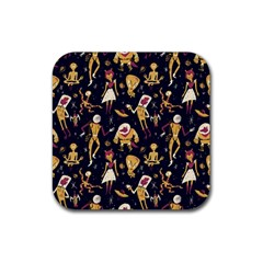 Alien Surface Pattern Rubber Square Coaster (4 Pack)