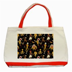 Alien Surface Pattern Classic Tote Bag (red) by BangZart