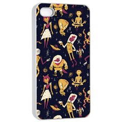 Alien Surface Pattern Apple Iphone 4/4s Seamless Case (white) by BangZart