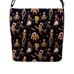 Alien Surface Pattern Flap Messenger Bag (l)  by BangZart