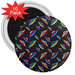Alien Patterns Vector Graphic 3  Magnets (10 Pack)  by BangZart