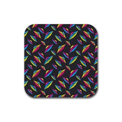 Alien Patterns Vector Graphic Rubber Square Coaster (4 Pack)  by BangZart