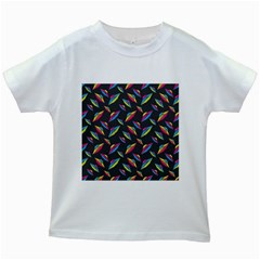 Alien Patterns Vector Graphic Kids White T Shirts