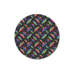 Alien Patterns Vector Graphic Magnet 3  (round) by BangZart