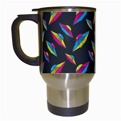 Alien Patterns Vector Graphic Travel Mugs (white) by BangZart