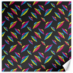 Alien Patterns Vector Graphic Canvas 12  X 12   by BangZart