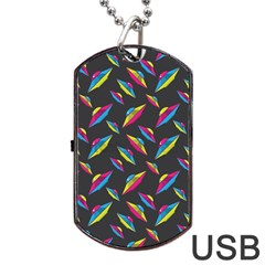 Alien Patterns Vector Graphic Dog Tag Usb Flash (one Side) by BangZart