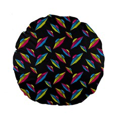 Alien Patterns Vector Graphic Standard 15  Premium Round Cushions