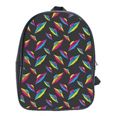 Alien Patterns Vector Graphic School Bags (xl)  by BangZart