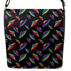 Alien Patterns Vector Graphic Flap Messenger Bag (s)