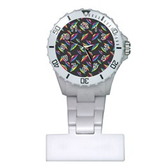 Alien Patterns Vector Graphic Plastic Nurses Watch by BangZart