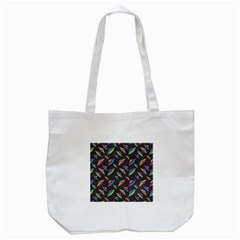 Alien Patterns Vector Graphic Tote Bag (white) by BangZart