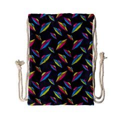 Alien Patterns Vector Graphic Drawstring Bag (small)