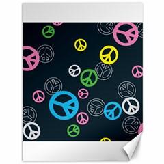 Peace & Love Pattern Canvas 36  X 48   by BangZart