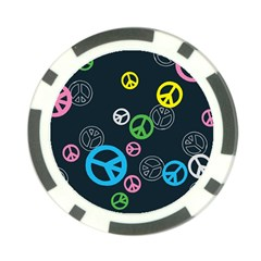 Peace & Love Pattern Poker Chip Card Guard