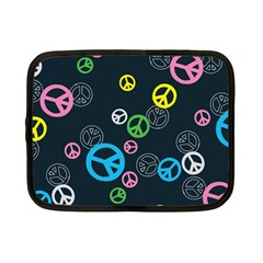 Peace & Love Pattern Netbook Case (small)  by BangZart