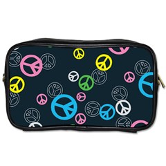 Peace & Love Pattern Toiletries Bags
