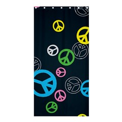 Peace & Love Pattern Shower Curtain 36  X 72  (stall)