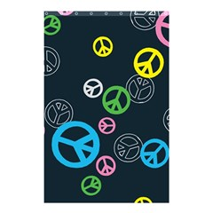 Peace & Love Pattern Shower Curtain 48  X 72  (small)  by BangZart