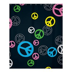 Peace & Love Pattern Shower Curtain 60  X 72  (medium)