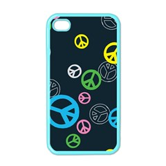 Peace & Love Pattern Apple Iphone 4 Case (color) by BangZart