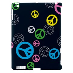 Peace & Love Pattern Apple Ipad 3/4 Hardshell Case (compatible With Smart Cover) by BangZart