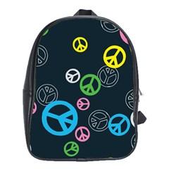 Peace & Love Pattern School Bags (xl)