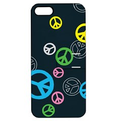 Peace & Love Pattern Apple Iphone 5 Hardshell Case With Stand by BangZart