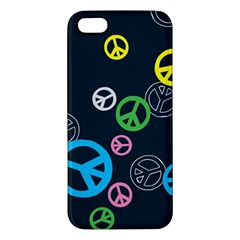 Peace & Love Pattern Apple Iphone 5 Premium Hardshell Case