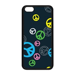 Peace & Love Pattern Apple Iphone 5c Seamless Case (black) by BangZart